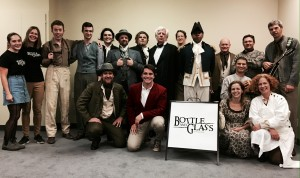 Cast and crew of Bottle and Glass – The Play. Click to see the full-sized image.
